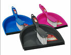 PINK, BLUE, GRAY Colour Plastic Traditional Dust Pan and Brush Set, DPAN