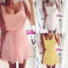 Summer Women Casual Chiffon Dresses Sleeveless Cocktail Short Mini Dress Party