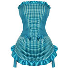 Sexy Blue Burlesque Moulin Rouge Fancy Dress Outfit
