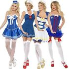 Clearance Womens Ladies Nautical Sailor Pirate Marine Fancy Dress Party Costume