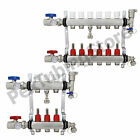 2 - 12 Branch Sizes: PEX Radiant Floor Heating Manifold Set - Stainless Steel