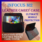 HORIZONTAL LEATHER CARRY CASE for INFOCUS M2 MOBILE POUCH COVER PREMIUM LATEST