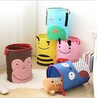 Toys Stuffed Dolls Basket Laundry Tidy Wash Dirty Clothes Bin Storage Organizer
