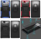 Quality Phone Cover HYBRID Case w/ Holster FOR ZTE Grand X Max Z787 / Max+ Z987