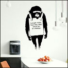 LARGE BANKSY ART MONKEY WALL STICKER NEW TRANSFER SAME DAY DESPATCH FROM UK