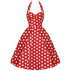 Hell Bunny Meriam Red Polka Dot Vintage 50s Rockabilly Pinup Swing Prom Dress