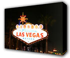 LAS VEGAS CITY WELCOME SIGN - GICLEE CANVAS ART