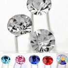 10x Round Crystal Bead Wedding Party Bridal Prom Hair Pin Clip Hair Jewelry Gift