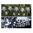 WHITE SOLAR LED GARDEN LIGHTS 20, 24, 50 STAR BUTTERFLY & STANDARD LEDs