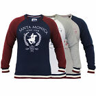 Mens Sweatshirt Santa Monica Pullover Polo Club USA Top Crew Neck Fleece Lined