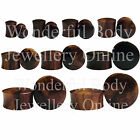 1 x Tamarind Wood Double Flared Ear Plug Choice of Size/Gauge 2G 2.5cm 6 25mm