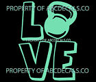 VRS Love Logo KettleBell Weight Training CAR DECAL VINYL STICKER
