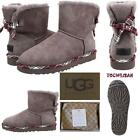 UGG Mini Bailey Bow Plaid CHARCOAL UGG Mini Bailey Bow Plaid Boots Sizes:8,9