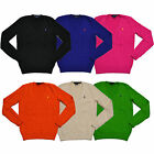 Polo Ralph Lauren Sweater V Neck Cable Knit Womens Casual Pullover New