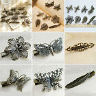 Women Retro Vintage Broze Butterfly / Dragonfly/ Feather Prong Hair Clip