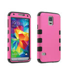 Shockproof Hybrid Armor Rubber Hard Protective Matte Case For Galaxy S5