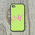 """Personalized IPhone Case, 4 4S, 5 5S 5C 6 (4.7"""") 6Plus White/Green/Pink Custom"""