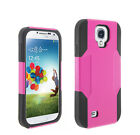 Combo Hybrid Silicone Rubber Hard Shockproof Protective Case For Galaxy S4