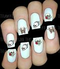 30 NAIL ART DECALS STICKERS  ROSE SKULL TATTOO GOTH PEEL AND STICK