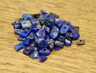 "LAPIS LAZULI SMALL TUMBLE CHIP BEADS - 50 BEADS or 36"" STRING"