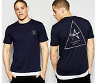Mens Designer Antioch T-Shirt Triangle Logo Cut & Sew longline Tee Top T 0164