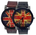 Keep Calm And Go to London Dial & Leather Strap Unisex Fashion Watch