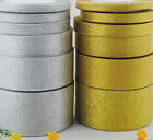 25 Yards Metallic Glitter Ribbon Your Best Choice of  2 Colors Free Shipping