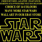 LARGE STAR WARS STARWARS WALL STICKER OUTLINE LOGO ART TRANSFER TRANSFER