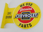 GENUINE+CHEVROLET+CHEVY+PARTS+FLANGE+SIGN+DEALERSHIP+DEALER+STOUT+ADVERTISING+SS