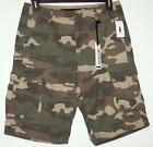 NWT Men's Jeans By Buffalo Camo Cargo Shorts  Size 30 33 Camouflage 100%  Cotton