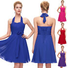 SUMMER CHEAP+RED Mini Halter Bridesmaid Evening Prom Gown Cocktail Short Dresses