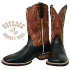 Ariat Men's Quickdraw Square Toe Black Boots 10002221