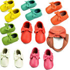 Boy Girl Toddler Baby Tassel Soft Sole Leather Shoes Infant Moccasin 0-24 Months