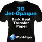 3G Jet Opaque Heat Transfer Paper 8.5 x 11 150 Sheets, Transfer Paper for Inkjet