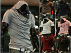 New Mens Slim Fit T-shirt Short Sleeve Hooded T-shirt Casual Hoodie Sport Tops