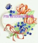 F10 ~ Heart cut out on Ceramic Decals 2 sizes to choose from, Flowers, Butterfly image