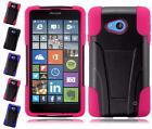 For Nokia Lumia 640 Dual Layer Hybrid T Kickstand Cover Case