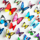 Fashion 12pcs 3D Butterfly Art Decal Home Decor PVC Butterflies Wall Stickers