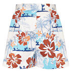 Hell Bunny Tiki Shorts Tropisches Blumenmuster Vintage Pinup 1950s Sommer