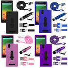 Metro PCS ZTE ZMax Kickstand Rugged Shock Proof Case USB Cable Stylus Kit