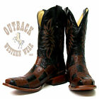Corral Brown Patchwork Ostrich Boots A1316