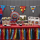 COMIC SUPERHERO 'POW KABOOM' BIRTHDAY PARTY TABLEWARE BALLOONS DECORATIONS