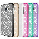 Pretty Vintage Damask Slim Hard Back Case Cover For Samsung Galaxy S6
