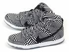 Nike Dunk High Premium SB Dazzle Pack White/Black 2014 Concept Car 313171-103