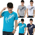 New 2015 Summer Men's Casual Words Printing Short Sleeve Basic Tee Shirt T-shirt