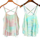 Sexy Girl's Summer Casual Colorful Chiffon Shirt Blouse Tank Vest Tops T Shirt