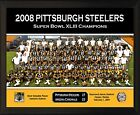 """PITTSBURGH STEELERS Super Bowl XLIII Champs 8x10"""" Plaque 2008 Team Photo Holmes"""