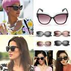 Fashion Retro Vintage Oversized Cats Eye Sunglasses Round Unisex Designer EA