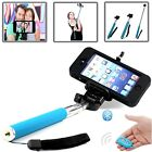 BLUE SELFIE STICK TELESCOPIC HANDLE+REMOTE SHUTTER FOR LATEST MOBILE PHONES