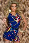 Summer Tropical Bodycon Dress Stretch Sundress Chains Feathers Belted Sleeveless